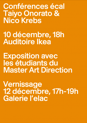 Lecture and exhibition Conférence et exposition Taiyo Onorato & Nico Krebs 2652