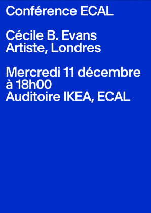 ECAL Conference: Cécile B. Evans Wednesday 11 December, 6pm, ECAL 25365
