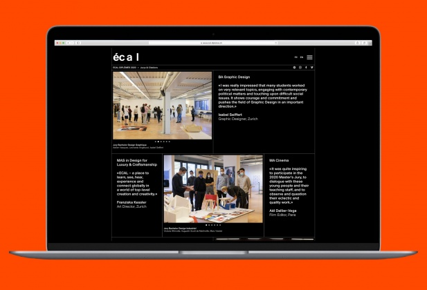 ECAL Diplomas 2020 – Website Discover online all the projects of the graduates!  28079