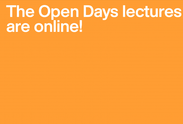 The 2018 Open Days lectures are online!