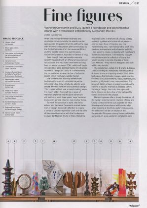 Article magazine Wallpaper, Vacheron Constantin, presse 3911