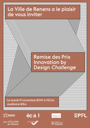Innovation by Design Challenge Award Tuesday 19 November 2019, ECAL, Renens 25074