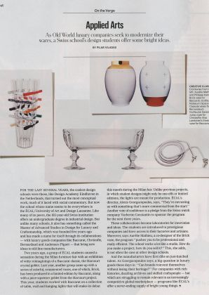 T Magazine, New York Times Herald Tribune, MAS Design Luxury Craftsmanship  3904