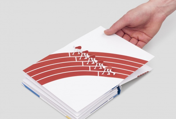 The Olympic Sports Pop-Up Book, ECAL/Paul Tubiana. Photo ECAL/Axel Crettenand 5712